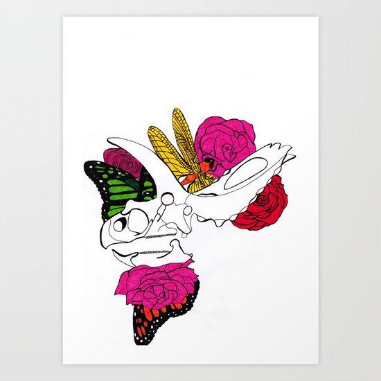 Dinosaur Skull II Art Print