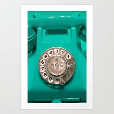 OLD PHONE - AQUA GREEN EDITION for Iphone Art Print