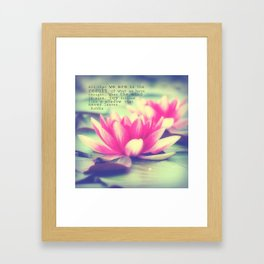 Lotus - Buddha Quote Framed Art Print