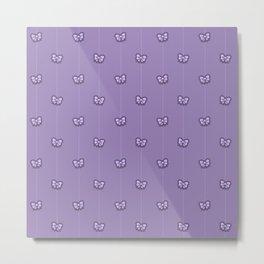 Lot of ribbons purple pattern Metal Print