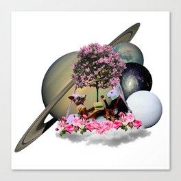 Saturn Playtime Canvas Print