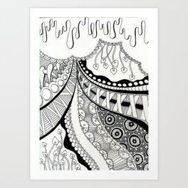Heather and Lace Art Print