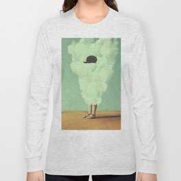 Magritte's Bowler Hat Long Sleeve T-shirt