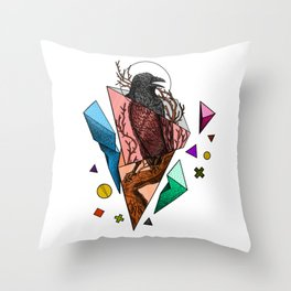 Powerful and fragile Throw Pillow