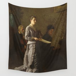 Singing a Pathetic Song Oil Painting by Thomas Eakins Wall Tapestry