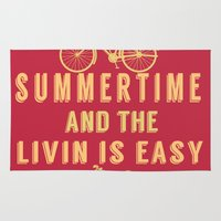 fitzgerald Area & Throw Rugs featuring Summertime and the livin' is easy by green.lime