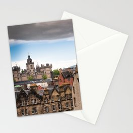 View of Edinburgh architecture from Victoria Street Stationery Cards