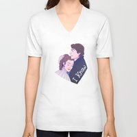 enerjax V-neck T-shirts featuring I Know by enerjax
