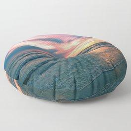 Beach Sunset Floor Pillow