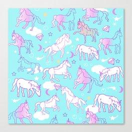 Unicorns In The Sky Canvas Print