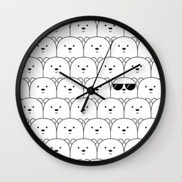 That Cool Polar Bear Wall Clock