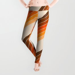 Tan Candy Stripe Leggings