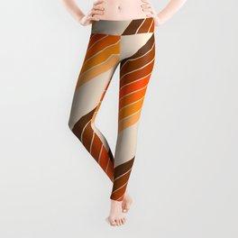 Tan Candy Stripe Leggings