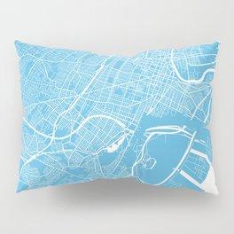 Newark map blue Pillow Sham