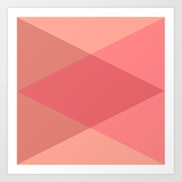 Rose Triangles Art Print