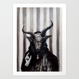 Baphomet Redeemer Art Print