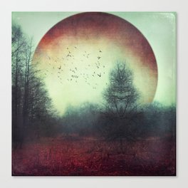 unReality - Fantastic Landscape with Red Planet Canvas Print