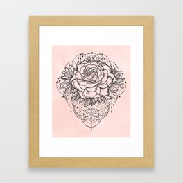 Night Rose Framed Art Print