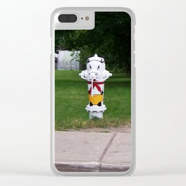 Funny Fire Hydrant Clear iPhone Case