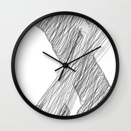 """"""" Cloud Collection """" - Minimal Letter X Print Wall Clock"""