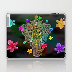 Elephant Zentangle Doodle Art  Laptop & iPad Skin