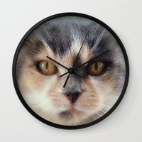 minnie Wall Clocks featuring Minnie by Teresa Pople