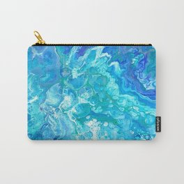 Aqua Ocean Blue Carry-All Pouch