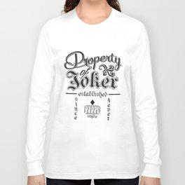 Dc Comics Suicide Squad Property Of Joker Juniors Raglan game T-Shirts Long Sleeve T-shirt