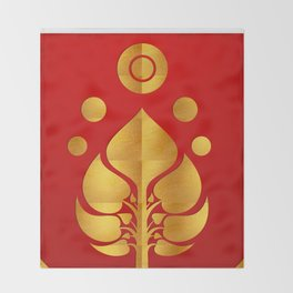 Bodhi Tree0301_GoldenDAY Throw Blanket