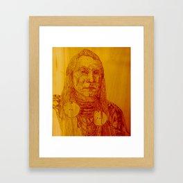 Warrior Chief Framed Art Print