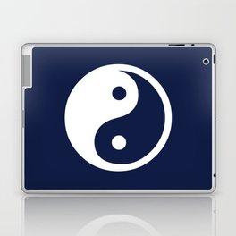 Indigo Navy Blue Yin Yang Laptop & iPad Skin