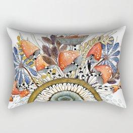 Twin Snails under vegetal roof Rectangular Pillow