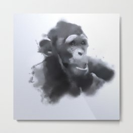Animals and Art - young Chimp Metal Print