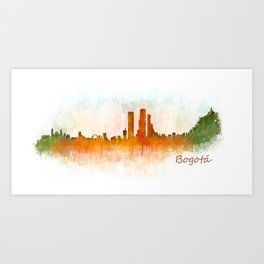 Bogota City Skyline Hq V3 Art Print