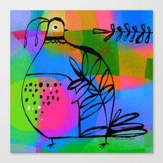 QUAIL COLORS Canvas Print