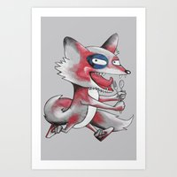 Hungry Fox Art Print