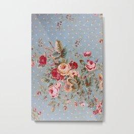 Floral Wallpaper-for iphone Metal Print
