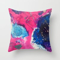mars Throw Pillows featuring Mars by Heather Plewes Art