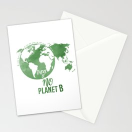 There Is No Planet B - Green Stationery Cards