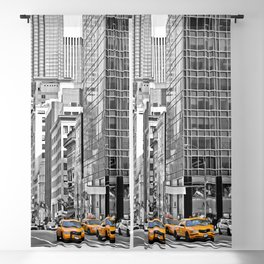 NYC - Yellow Cabs - Police Car Blackout Curtain
