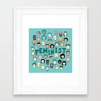 feminist Framed Art Prints featuring Feminist by F-ordet