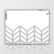 GRAY & WHITE LACE CHEVRON Laptop & iPad Skin