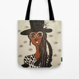 Miss Hat Lady Tote Bag