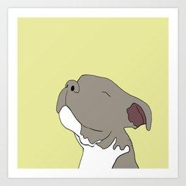 Sunny The Pitbull Puppy Art Print