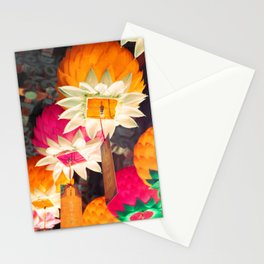 Flower Lanterns Stationery Cards