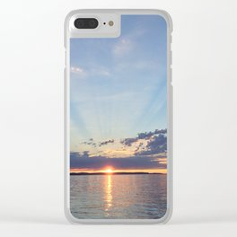 A Seattle Sunset Clear iPhone Case