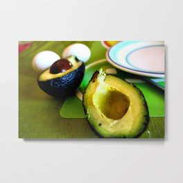 Avocados in Chile Metal Print