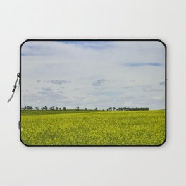 Canola Field Yellow - Landscape Laptop Sleeve