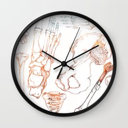 Lower Extremity Skeleton Wall Clock