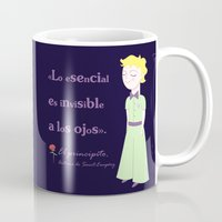little prince Mugs featuring Cute little prince by Pendientera
